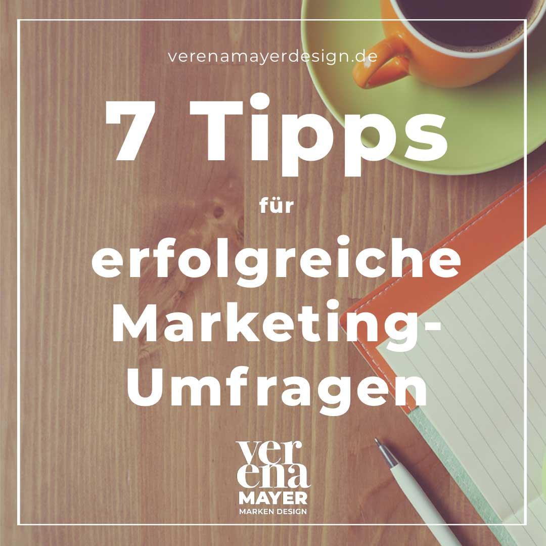 7 Tipps Marketing Umfrage mittel