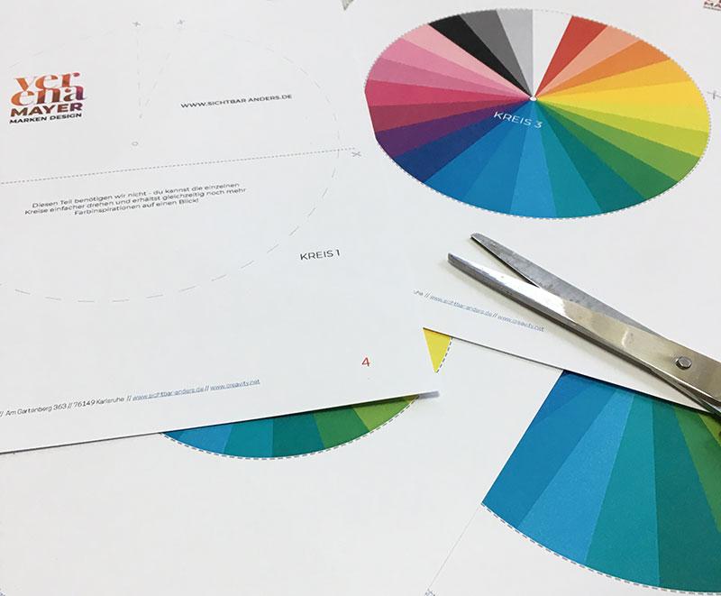 Bild Freebie Farbkreis Farbenkombinieren ausdruck