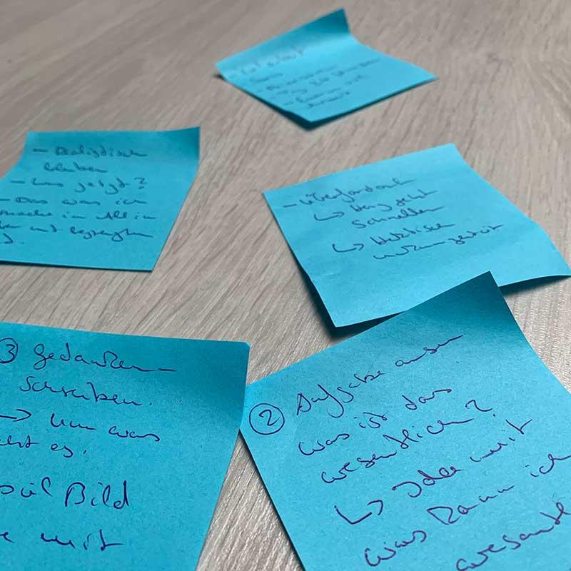 Haftnotizen Ideensammlung2