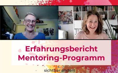"""Erfahrungsbericht  – Kreativitäts-Mentoring """"Jetzt.Beginne.Ich."""""""